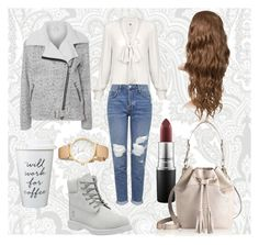 """some white things ❄️"" by rii-ppa on Polyvore featuring Glamorous, Topshop, Timberland, Kate Spade, MAC Cosmetics and GiGi New York"