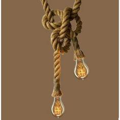 Kötél felfüggeszthető lámpa 2 m
