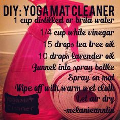 DIY Yoga mat cleaner                                                                                                                                                      More