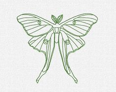 Luna Moth by Katie Lyons *This is a Machine Embroidery pattern. You must have an embroidery machine to use this item.* Finished Measurements are x --->This design only has one run! Learn Embroidery, Machine Embroidery Patterns, Hand Embroidery, Quilt Patterns, Embroidery Designs, Moth Tattoo, Fern Tattoo, Manga Drawing Tutorials, Creative Textiles