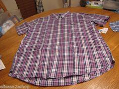 Men's Tommy Hilfiger shirt XXL 2XL button up college Poplin purple 7816084 543