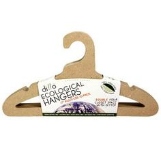 "Ditto Paper 17"" Multi-Use Hanger 10-Pack - $17.99. This company is so amazing! They produce hangers from 100% recycled materials. Plus they are super thin so they are a great space-saver in tiny closets."