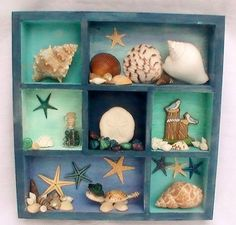 A shadow box for those collected sea shells and rocks!