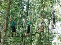 Bali Treetop Adventure Park. This looks cool for when the kids are a bit older. A group in the blue circuit of Bali Treetop