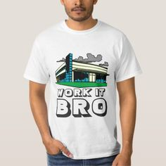 WORK IT Bro by T-Shirt - humor funny fun humour humorous gift idea Office Assistant, Bro, Funny Tshirts, Shirt Style, Shirt Designs, Administrative Assistant, Secretary, Mens Tops, T Shirt
