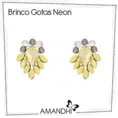 Brinco Gotas Neon | Amandhí | www.amandhi.com |