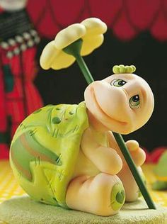 - Biscuit - Let. Polymer Clay Kunst, Polymer Clay Animals, Fimo Clay, Polymer Clay Projects, Polymer Clay Creations, Clay Turtle, Fondant Animals, Clay Figurine, Cute Clay
