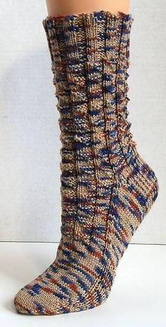 free knit sock pattern - Panda Superwash - Fishing Breakfast Socks -  Crystal Palace Yarns Knitted c97bc03b0f