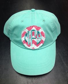 Preppy Monogrammed Baseball Hat by christylous on Etsy, $20.00 in   Just like the display picture