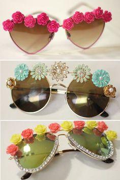 df7acd171579 Sunny Style! DIY Embellished Sunglasses