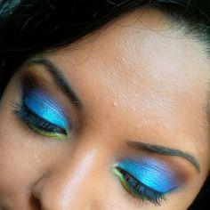 Makeup look for Pride Week. #crueltyfree #makeup #blackeyes #brownskin