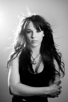 Lzzy Hale, lead singer of Halestorm. I'm pretty sure if I ever met her, I'd probably be hyperventilating and freaking out.