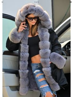 My New Bargain find..  Faux Fur Lined Parker Coat  ❣ Couldn't choose between Grey or Red But found an online voucher ,which means I Get Both for price of 1  One very happy Gal..