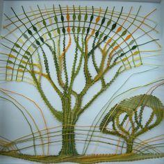 kunstslagboom---lieve vloors Sheila Hicks, Bobbin Lacemaking, Bobbin Lace Patterns, Lace Heart, Lace Jewelry, Lace Making, Lace Flowers, String Art, Wool Yarn