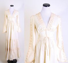 Gunne Sax / Crochet / wedding dress / Renaissance / by aiseirigh, $200.00