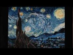 Interactive Starry Night. Van Gogh. Captivating and fabulous for getting kiddos excited about art.