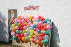 Busted busted busted balloon wall!