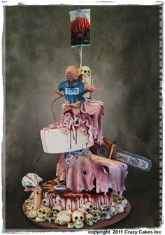 Zombie Cake ^why it's wearing a blizzard t shirt idk but it's very detailed!!