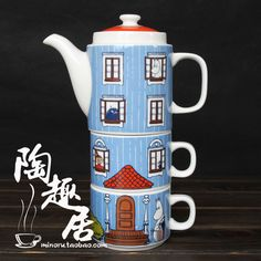 Moomin tea service set teapot stainless steel colander cup coffee cup japanese style ceramic-inCoffee & Tea Sets from Home & Garden on Aliexpress.com | Alibaba Group Moomin Valley, Cheap Coffee, Tove Jansson, Tea Service, Ceramic Cups, Tea Sets, Japanese Style, Mug Cup, Alibaba Group