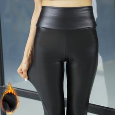 Cheap skinny pants women, Buy Quality warm womens pants directly from China women fashion pants Suppliers: Winter Warm Women Pants Dropshipping Female PU Leather Velvet Trousers Elastic Pencil Skinny pants Women's Fashion Tight pants Leather Trousers, Leather Leggings, Trousers Women, Pants For Women, Clothes For Women, Pu Leather, Leggings Fashion, Fashion Pants, Women's Fashion