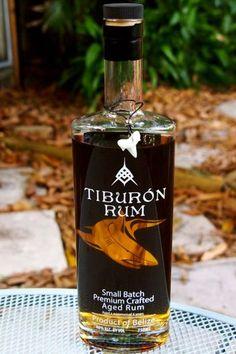 Tiburon Rum, the bold new taste of Belize by way of Chicago. Alcohol Bottles, Liquor Bottles, Drink Bottles, Whisky, Cuba Rum, Tequila, Vodka, Rum Beer, Good Rum
