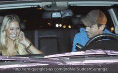 Enrique Iglesias  Anna Kournikova enjoyed dinner at a sushi restaurant 10.20.2009