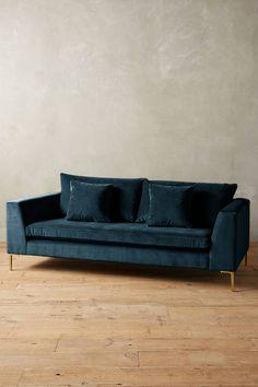 Slide View: 1: Velvet Edlyn Sofa