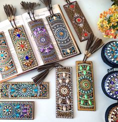 Items similar to Perfect gift Leather Bookmark, Leather bookmarks, Gift Lovers reading, Literary Tassel Bookmarks, Unique Bookmark Gift Thanksgiving on Etsy - Creative Bookmarks, Diy Bookmarks, Leather Bookmarks, Crochet Bookmarks, Dot Art Painting, Mandala Painting, Mandala Dots, Mandala Design, Tassel Bookmark