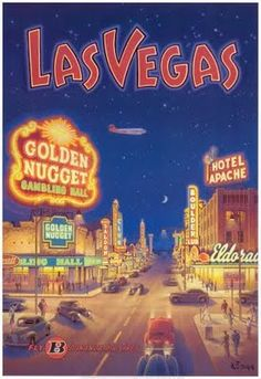 old fashioned poster - las vegas