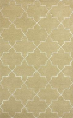 Hand Tufted Camila Trellis With Silk Like Viscose Contemporary Living Room RugsDining