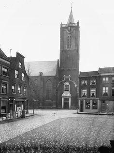 Schiedam 1918 de Sint janskerk