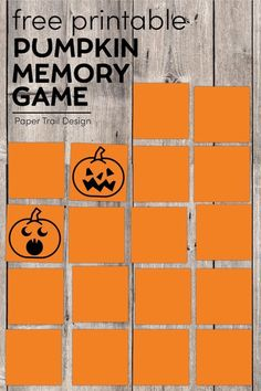 Print this fun Halloween memory game for kids to play to help improve their working memory. Fun educational game for kids. #papertraildesign #halloween #halloweenmemory #pumpkinmemory #pumpkingame #pumpkingames Halloween Bingo, Halloween Activities For Kids, Halloween Prints, Halloween Themes, Halloween Pumpkins, Halloween 2020, Preschool Activities, Halloween Ideas, Halloween Decorations