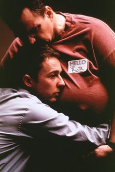 Fight Club again... Ed Norton and Meatloaf.  Awesome.