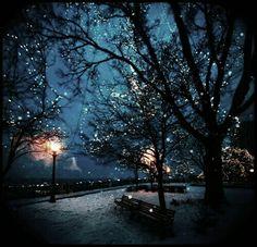 Winter, lights