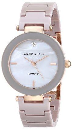 Anne Klein Women's Diamond Dial Taupe Ceramic Bracelet Watch Trendy Watches, Elegant Watches, Beautiful Watches, Cool Watches, Watches For Men, Ladies Watches, Wrist Watches, Anne Klein, Silver Pocket Watch