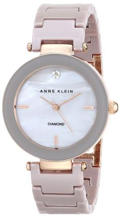 Anne Klein Women's AK/1018RGTP Diamond Dial Taupe Ceramic Bracelet Watch Anne Klein http://www.amazon.com/dp/B00J0B0DHK/ref=cm_sw_r_pi_dp_nlxiub1NVEGCJ