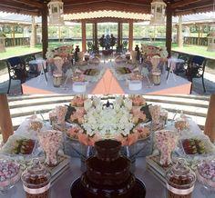Confettata e fontana di cioccolato  Battesimo  chocolaterie des iles