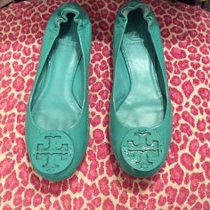 ✨TORY BURCH PATENT LEATHER FLATS✨ ✨These are SO cute but I'm not wearing them nearly enough and they don't match with most of my wardrobe at this point since I'm going in a different direction with things! Size is 8.5 and these are in excellent PRELOVED condition! No box. These are a light teal? They border on green if that makes sense...Patent Leather flats. Super comfy to walk in! Don't miss out!✨ Tory Burch Shoes Flats & Loafers