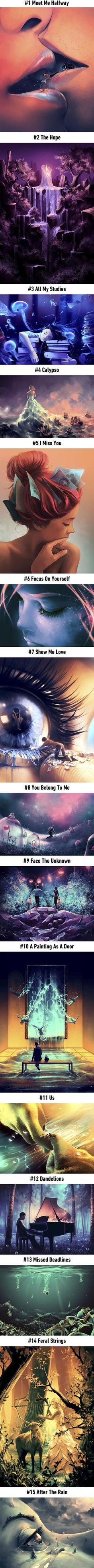 amazing art Artist Creates Surreal Fantasy Universes Inspired By Hayao Miyazaki And Tim Burton (By Ciryl Rolando) Art Photography, Street Photography, Wow Art, Hayao Miyazaki, Cool Drawings, Interesting Drawings, Random Drawings, Unique Drawings, Amazing Drawings