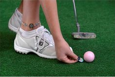 Find the best Holiday gifts for golf accessories : One Putt Designs Par 3 Golf Ball Marker Ankle Bracelet