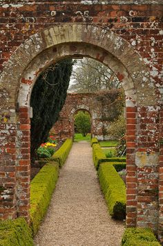 Walled garden at Felbrigg Hall, Norfolk.