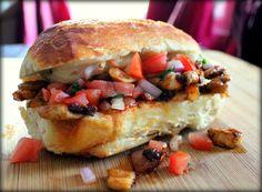 Chipotle Mushroom Sub Sandwich w/Chunky Pico de Gallo