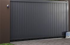 Same idea, but a bit too plain. Another horizontal member about up would give it a bit more character. Metal Fence Gates, Wooden Gates, Front Gates, Entrance Gates, Front Fence, Fencing, Main Gate Design, Front Door Design, Entrance Design