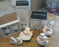 7 pc FAT CHEF FRENCH CAFE BAKER ITALIAN BISTRO CERAMIC DECOR KITCHEN on eBay!