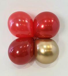 Pearl red, chrome gold, burgundy in jewel red, chrome gold in jewel red.