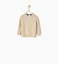 Image 1 of Basic textured sweater from Zara
