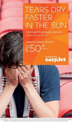 Airlines reacts to Englands football team #brilliant #ad #print