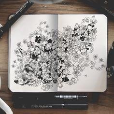 Artiste autodidacte et graphiste, Joseph Catimbang crée des dessins visuellement complexes en utilisant uniquement des stylos noirs et un carnet de croquis.  Les compositions, tentaculaires et surréalistes conjuguent harmonieusement divers sujets et styles artistiques, allant de représentations réalistes d'animaux à de petits personnages de dessins animés, le tout inspiré par la bande dessinée et les jeux vidéo. Ses illustrations utilisent une quantité minimale d'ombrages…