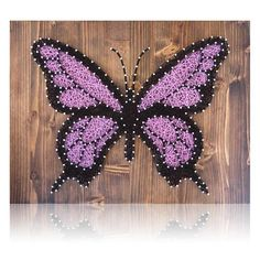 One-of-a-kind Butterfly String Art for your home that you create yourself.  Great gift idea for those crafters you know.  Or do-it-yourself for a friend. Materi