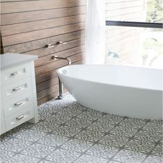 Handmade Argana Grey and White Cement and Moroccan 8-inch Floor/ Wall Tile (Morocco) (Case of 12)